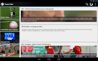 Screenshot of Foot Info Marseille