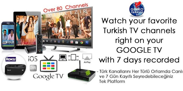 Giniko Turkish TV for GoogleTV - screenshot thumbnail