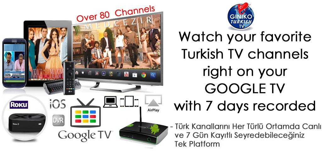 Giniko Turkish TV for GoogleTV - screenshot