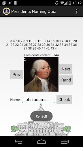U.S. Presidents Naming Quiz