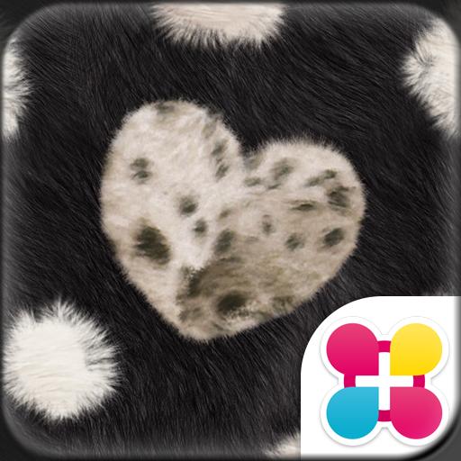 Chic Theme FUR HEART -BLACK- Icon