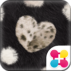 オシャレ壁紙 BLACK FUR HEART icon