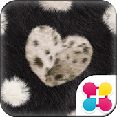 FUR HEART -BLACK- for[+]HOME