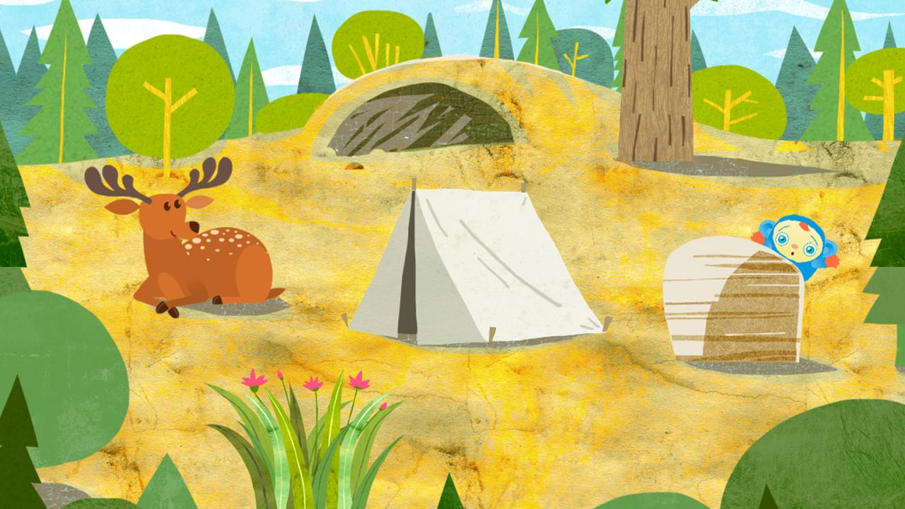 Peekaboo Goes Camping Game- screenshot