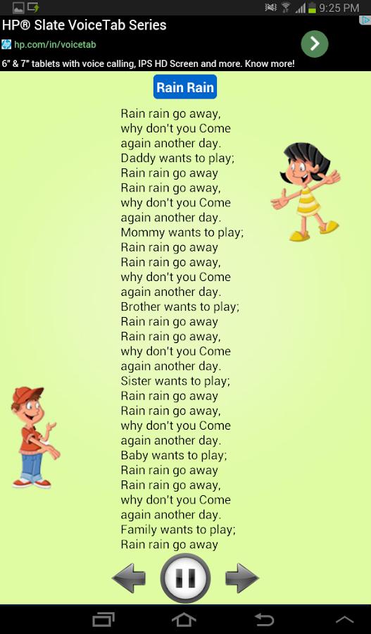 Kids Nursery Rhymes Audio New Screenshot