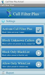 Call filter Plus - screenshot thumbnail