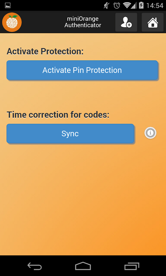 miniOrange Authenticator- screenshot