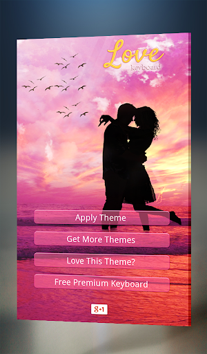 Love Keyboard Theme