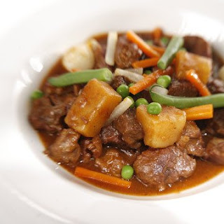 Lamb Stew with Young Vegetables.