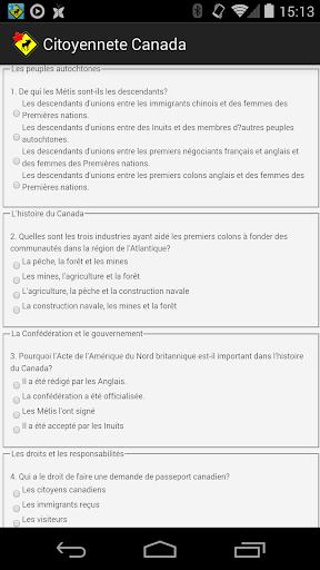 Test de citoyenneté Canadienne