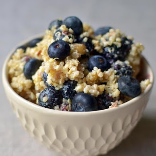 Breakfast Grain Salad with Blueberries, Hazelnuts & Lemon.