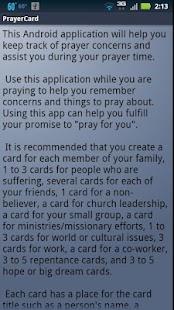 PrayerCard- screenshot thumbnail