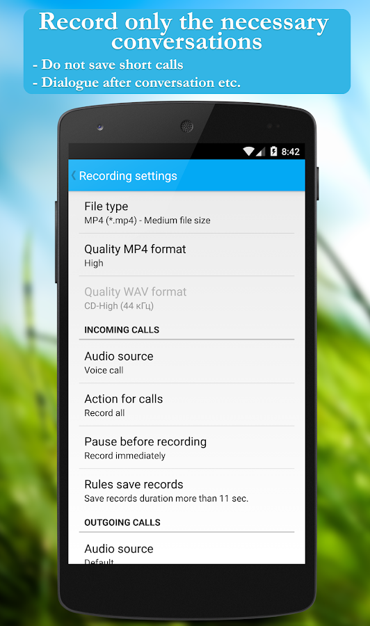 Call recorder (Free) - screenshot