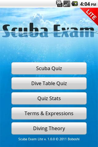 Scuba Exam Lite - screenshot