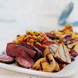 Sliced Steak with Roasted-Corn Salsa
