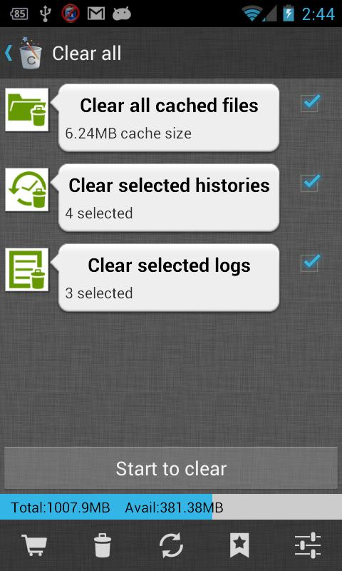 1Tap Cleaner (Cache, History) - screenshot