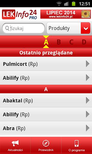 LEKInfo24 PRO - indeks leków