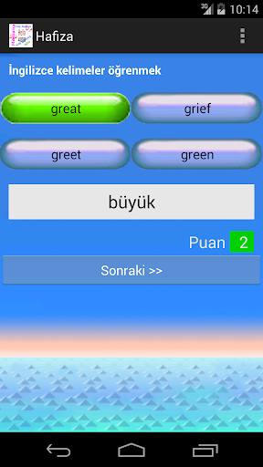 İngilizce TÜRKÇE