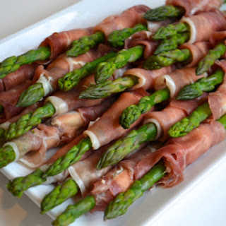 Asparagus wrapped Prosciutto and Boursin Cheese