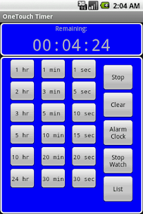 OneTouch Timer Full - screenshot thumbnail