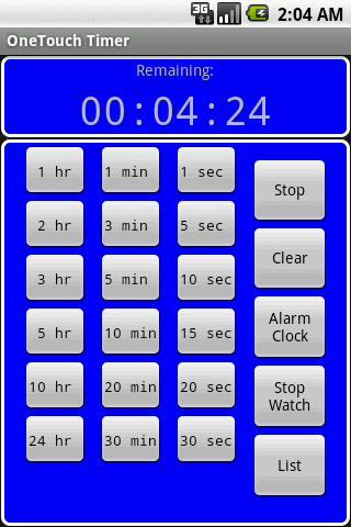 OneTouch Timer Full - screenshot