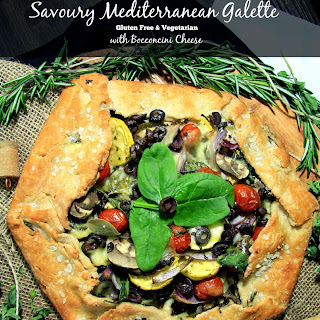 Savoury Mediterranean Galette with Bocconcini Cheese.