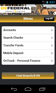 OEFCU Mobile Banking App- screenshot thumbnail