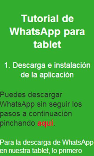 Instalar WhatsAp en tablets