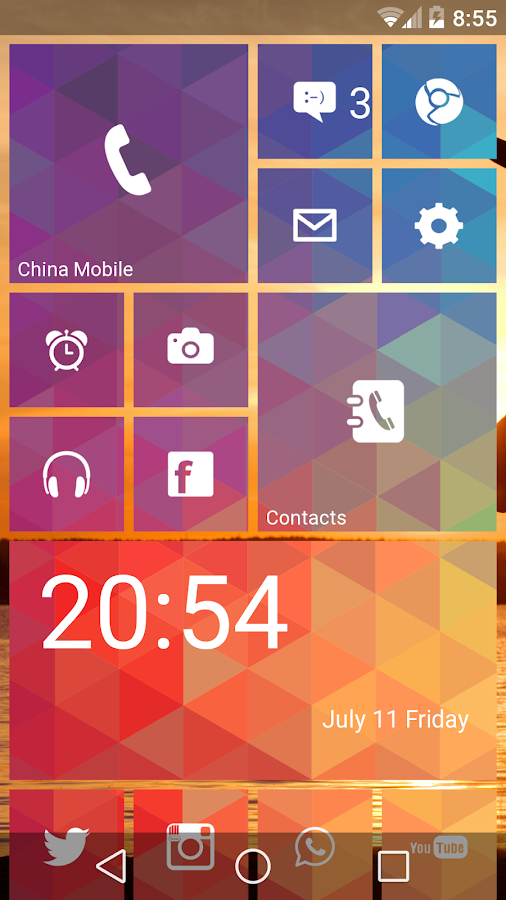 Launcher 8 WP style- screenshot