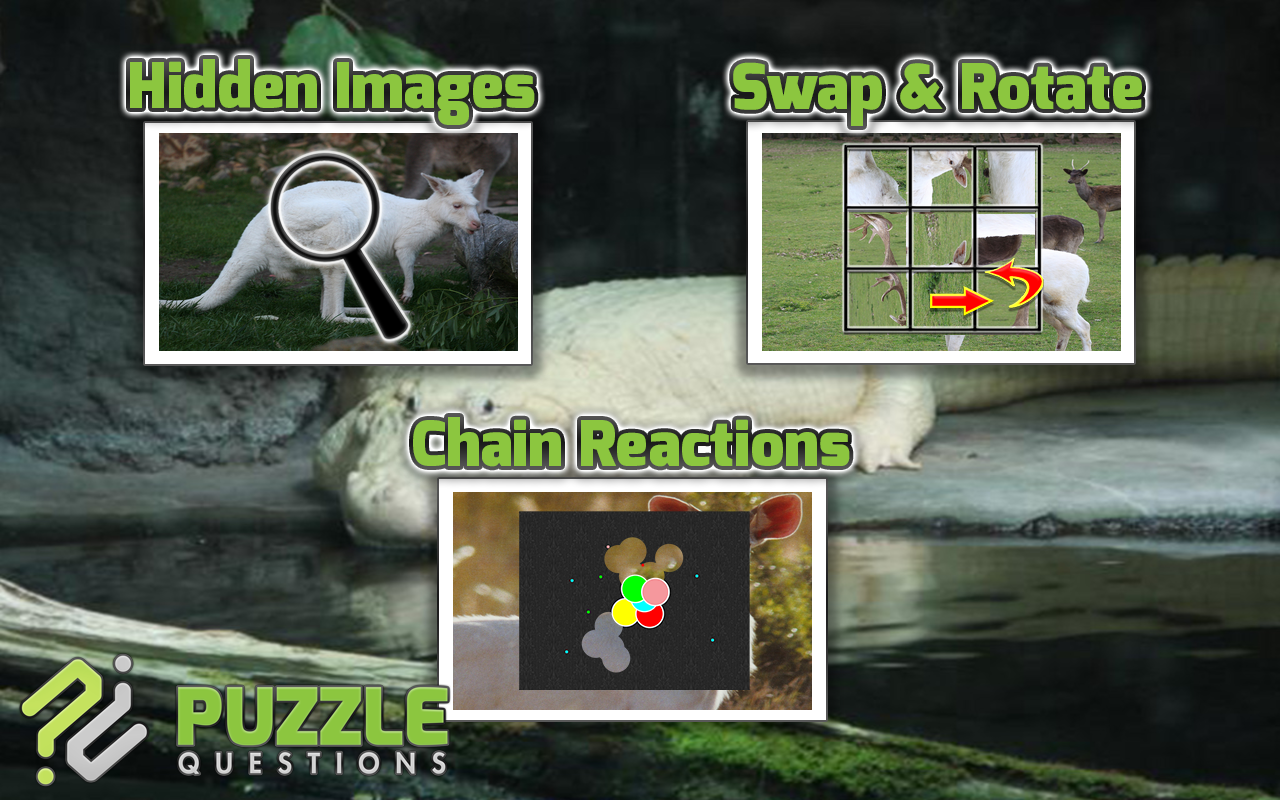 Free Albino Animal Puzzle Game- screenshot
