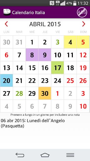 2015 Calendario Vacanze Italia