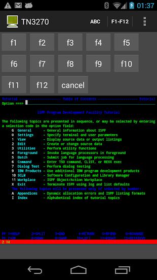 Mocha TN3270- screenshot thumbnail