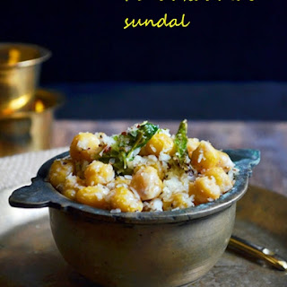 Kondakadalai Sundal Recipe | Chickpeas Sundal