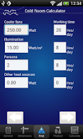 Screenshot of Cold Room Calculator