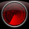 Radar Clock LWP Crimson icon