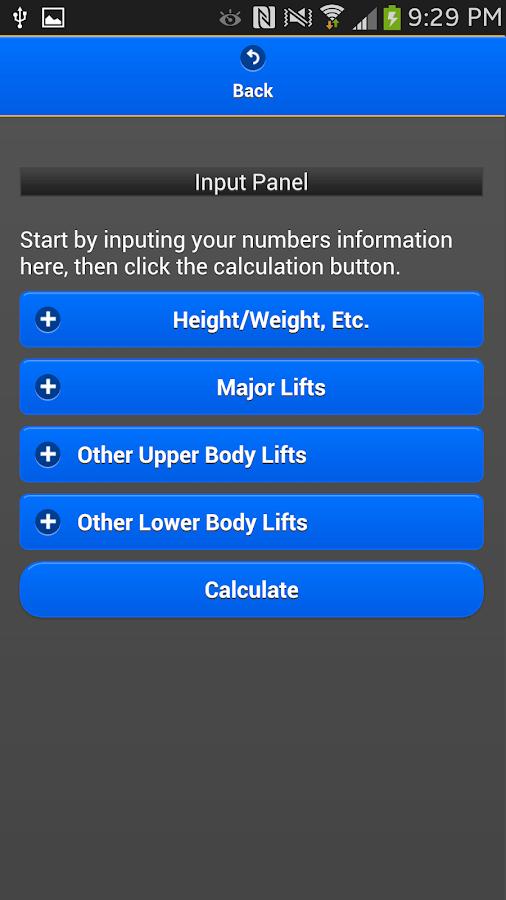 StrengthCalc - LEGACY Edtion - screenshot