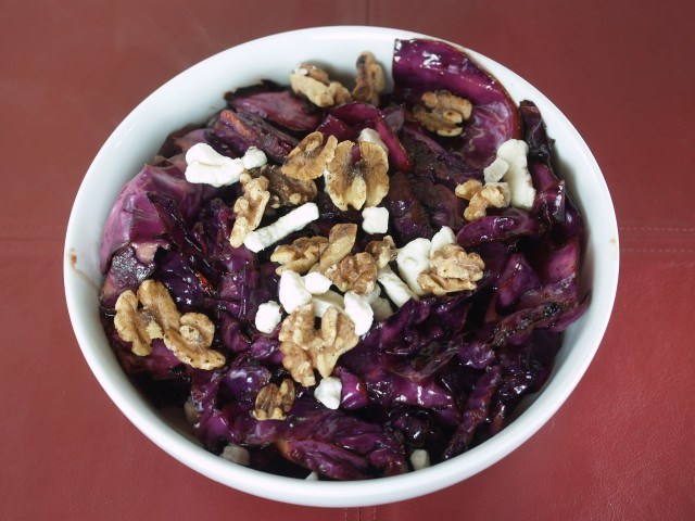 Purple Cabbage with Walnuts and Goat Cheese Recipe