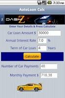 Screenshot of Auto Loan Calc
