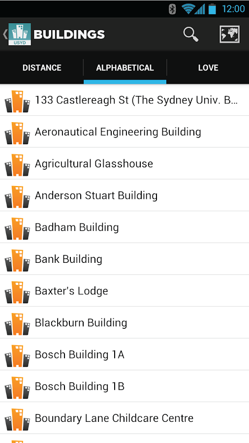 Sydney University Map- screenshot