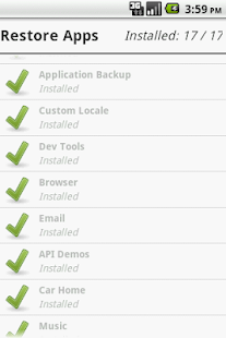 Application Backup - screenshot thumbnail