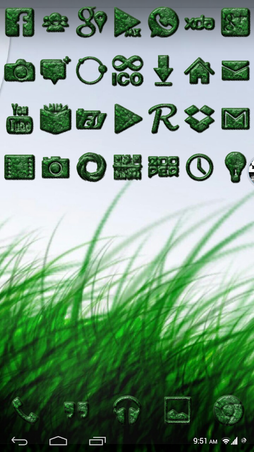 Grassy Icons - screenshot