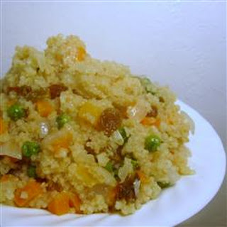 Quick Couscous with Raisins and Carrots.