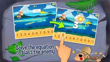 Screenshot of Monkey Math Free - Kids Games