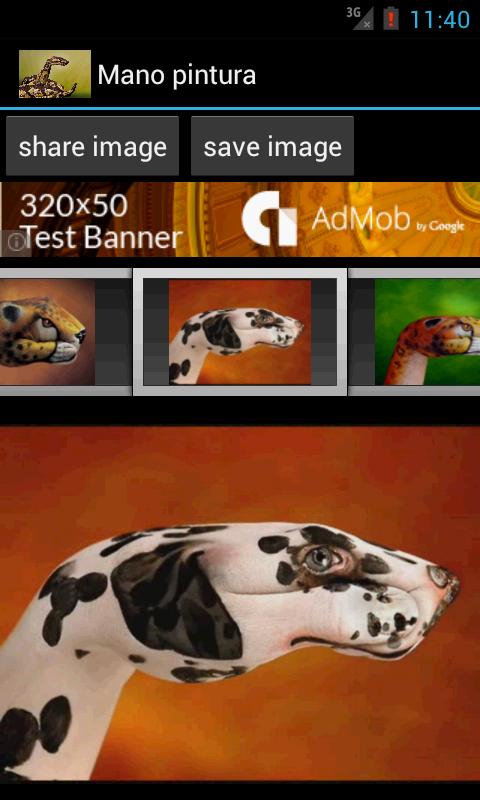 Hand painting- screenshot
