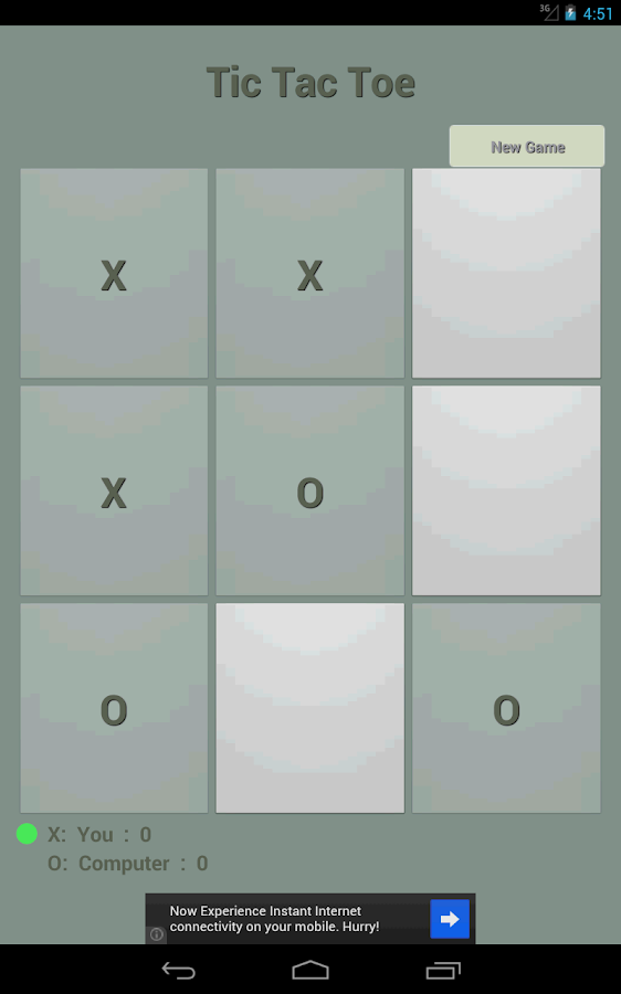 Tic Tac Toe LAN- screenshot