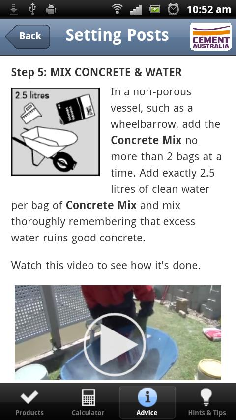 Cement Australia DIY Guides- screenshot