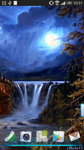 Night Waterfall Live Wallpaper