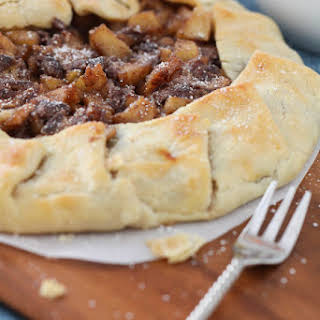 Chocolate and Caramel Apple Pie Galette.