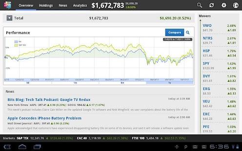 Wikinvest Portfolio HD- screenshot thumbnail