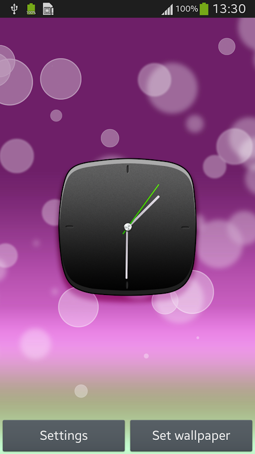 Hd clock home screen android apps on google play Hd home me
